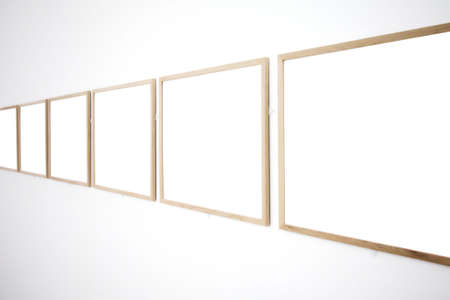 walls in museum with empty frames Stock Photo - 3242323