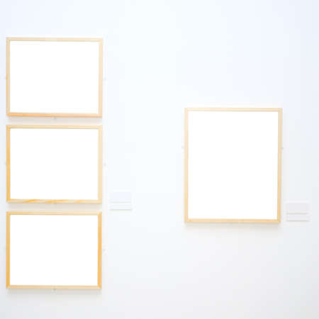 walls in museum with empty frames Stock Photo - 3242322