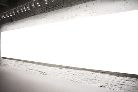 gallerie: Empty white banner on exposition Stock Photo