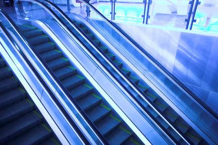Move escalator in modern office centre photo