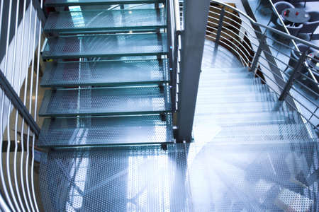 Stairs in modern office centre photo