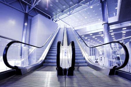 Escalators in exhibition centre photo