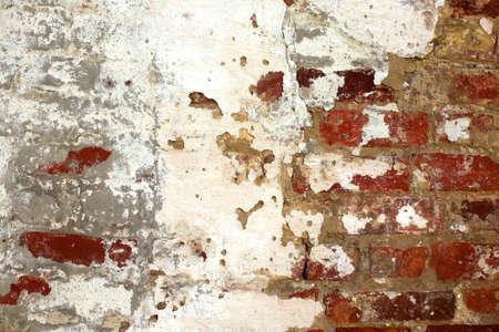 stucco and brick grunge wall photo