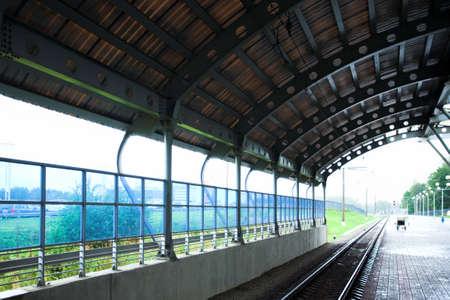 wet platform in subway photo