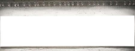 an exposition: Vuotare bianco banner sulla esposizione Archivio Fotografico