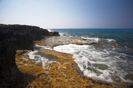 aya: Cape Greco or Cavo Greco, Agia Napa, Cyprus Stock Photo