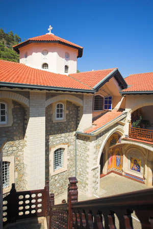 moutains: Kikkos Monastery in moutains of troodos, Cyprus