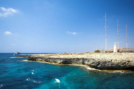 Cape Greco or Cavo Greco, Agia Napa, Cyprus Banco de Imagens