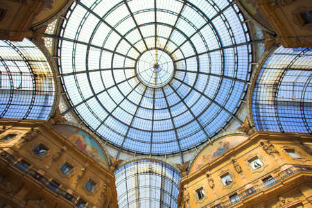 vittorio emanuele: Milan (Lombardy, Italy) - Gallery Vittorio Emanuele II, the ceiling Stock Photo