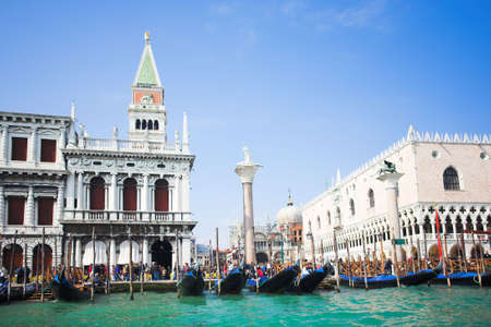 Venice - Italy, Gondolas near the San Marco on Grand channel photo