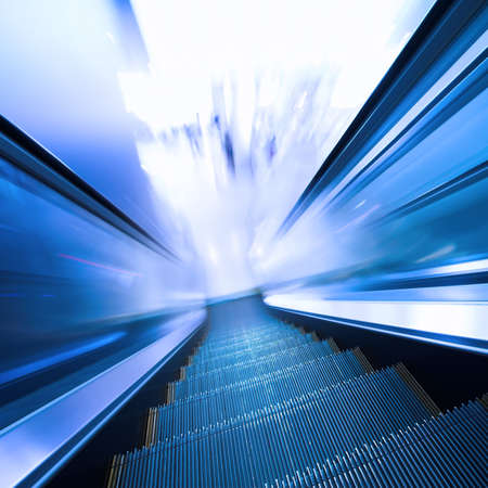 Fast moving escalator in shopping center Stock Photo - 4188111