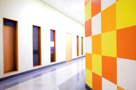 Office corridor and windows Stock Photo - 4188181