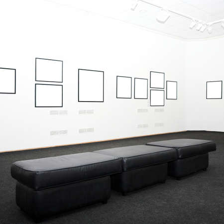 walls in museum with empty frames Stock Photo - 4305589