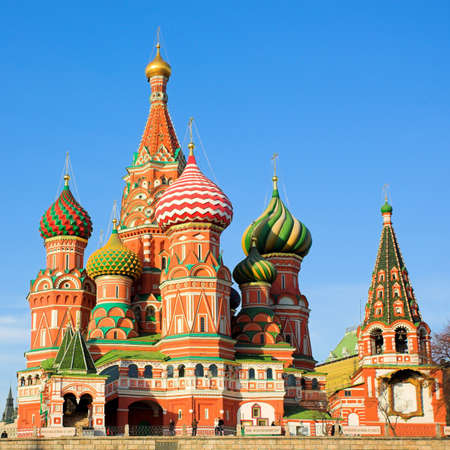 St. Basils Cathedral on Red square, Moscow, Russia Stock Photo