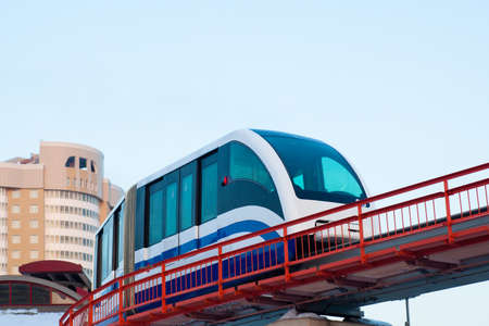 Monorail fast train on railway, Moscow, Russia photo