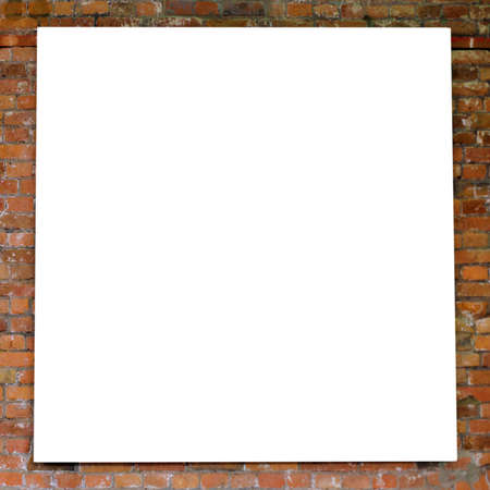 gallerie: White frame on brick wall in museum