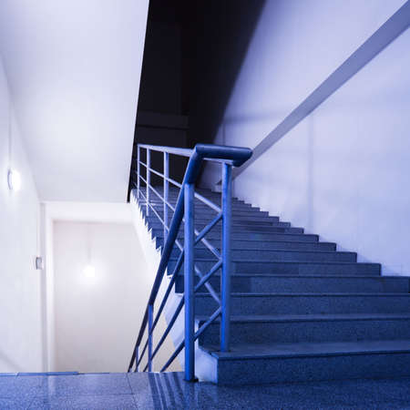 Empty stairs in office photo