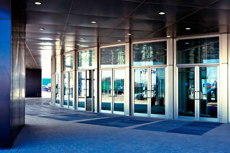 Doors in modern office