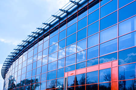 New business center windows reflictions Stock Photo