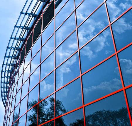 Nuevas ventanas Centro de Negocios reflictions, la composición de la plaza