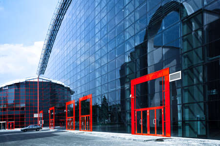 Enters to new business center