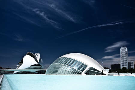 Hemisferic and Palace of Arts - buildings of the City of Arts and Sciences, Valencia, Spain
