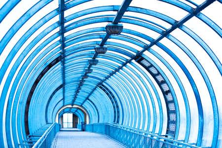 Empty blue corridor Stock Photo - 5778646
