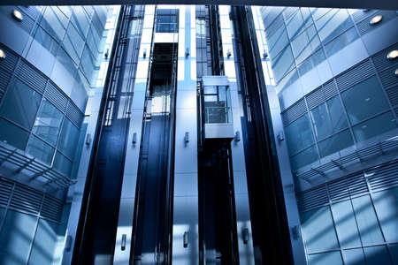 Lifts in modern interior in blue Stock fotó
