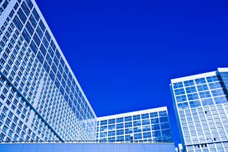 dwelling: Dwelling house in blue