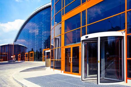 Orange enters to new business center Stock Photo