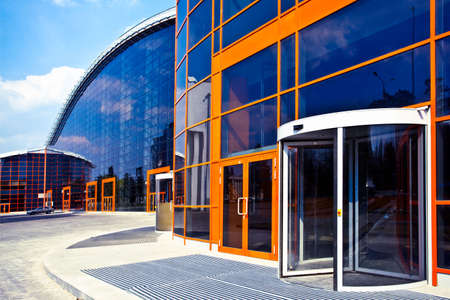 enters: Orange enters to new business center Stock Photo