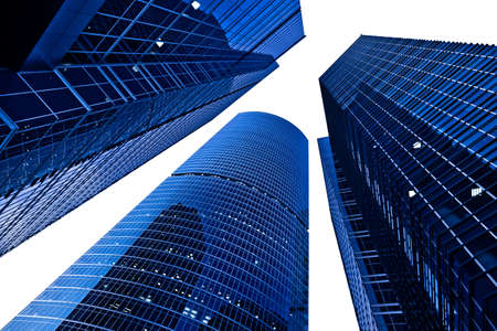 Three modern skyscrapers towers in business centre isolated on white Stock Photo - 5855090