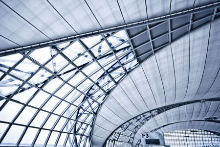Abstract blue ceiling interior background, left composition Stock Photo - 5989636