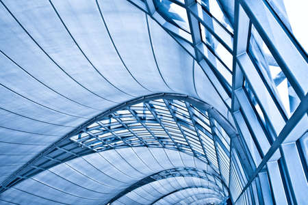 Abstract blue ceiling interior background, left composition Stock Photo - 5989632
