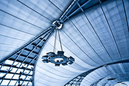 Abstract blue ceiling background with lamps Stock Photo - 6033786