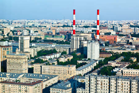 Moscow view.Panorama from high buildig photo