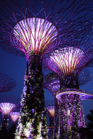 Gardens by the Bay in Singapore Editorial