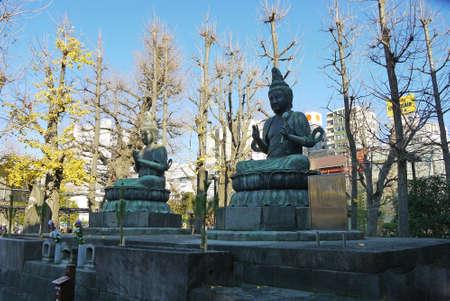 Tokyo, Japan - Japanese Buddha God statue Stock Photo - 28434745