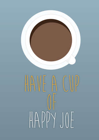 joe: Have a Cup of Happy Joe Illustration
