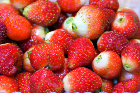 without: ripe strawberries without leaves