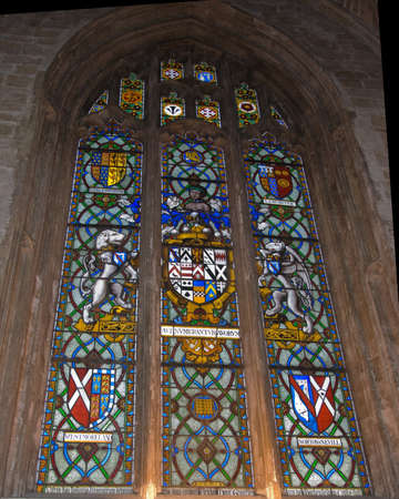 Stained Glass in an English Cathedral Editorial