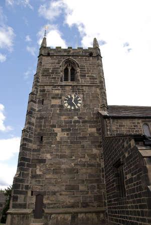 A Stone Built English Church Tower Stock Photo - 10301783