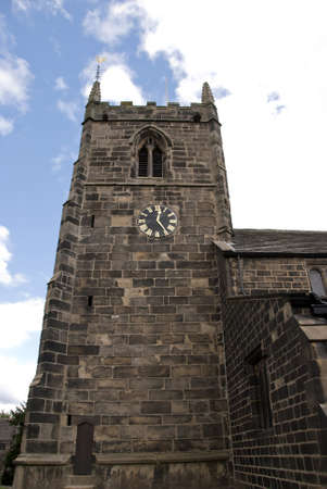 A Stone Built English Church Tower Stock Photo - 10301783