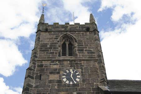A Stone Built English Church Tower Stock Photo - 10301781