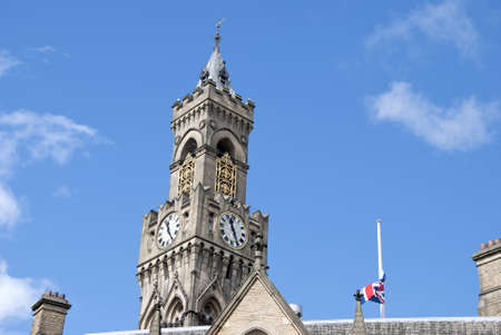 The Town Hall and Belltower of an English City Stock Photo - 10301782