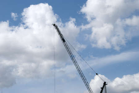 The Jib of a construction Crane Stock Photo - 10321602