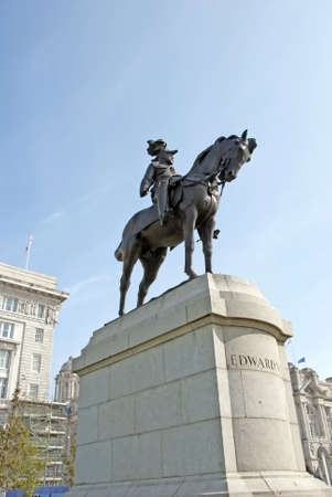 king edward: A Statue of King Edward VII of England in Liverpool