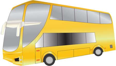 oorkonde: A Luxury Long Distance Double Deck Bus Stock Illustratie