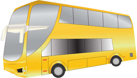 double decker: A Luxury Long Distance  Double Deck Coach Illustration