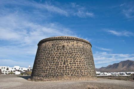 eighteenth: An Eighteenth Century fortress near Playa Blanca Lanzarote Canary Islands Stock Photo